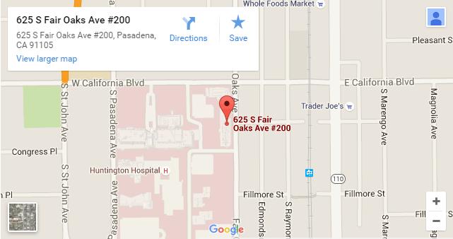 Comprehensive_Dermatology_Center_Pasadena_map